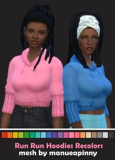 The Sims Resource: Run Hoodies Recolors V2 by maimouth • Sims 4 Downloads
