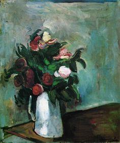 Maurice de Vlaminck, Peonies in a Vase, 1909-10