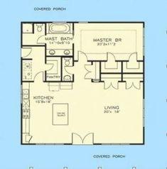 65 Ideas house plans beach cottage decks #house Beach House Plans, Granny Flat, Carriage House, Beach Cottages, Tiny Houses, Decks, Master Bath, Floor Plans, How To Plan