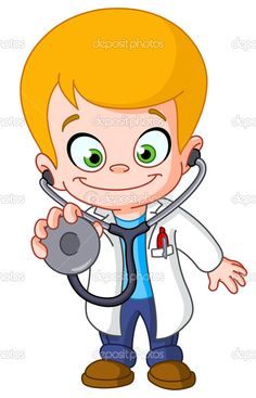 Illustration about Kid doctor with a stethoscope. Illustration of medical, medic, illustration - 24823766 Kids Vector, Free Vector Images, Vector Art, Moral Stories For Kids, Children Images, Cartoon Kids, Cartoon Drawings, Royalty, Clip Art