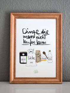 """Artprint """"Things you can not buy""""- Kunstdruck """"Dinge die man nicht kaufen kann"""" Art print things you can not buy - The Words, German Quotes, Wall Art Quotes, Quotations, Art Prints, Sayings, Instagram, Sweet, Ferrero Rocher"""