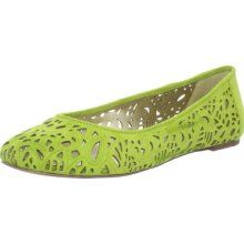 A. Marinelli Women's Bliss Ballerina Flat,Lime