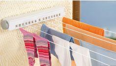 Optar por uma linha de roupas retrátil, se você tem espaço limitado.
