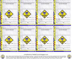Cub Scout Award & Patch Pocket Certificate to be given out at Pack Meeting to recognize any completed award and can be given out at Pack Meeting to recognize completed awards.  This pocket certificate can be given to Tiger, Wolf, Bear, or Webelos Cub Scouts.