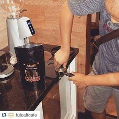 #Repost @fulcaffcafe with @repostapp  Tekan pas!!! http://ift.tt/25bZ4Kr #fulcaff #espresso #barista #coffee #cappuccino #caffelatte #macchiato #flatwhite #americano #longblack #affogato #espressoconpanna #basicespresso #espressoshot #espressomachine #doubleboiler #espressotime #baristadiary #alexduetto #alexleva #tamper #tamping #kursusbarista #baristaart #baristacourse #baristatraining #fulcaffeverywhere #fulcaffcoffee #fulcaffcafe www.fulcaff.coffee http://ift.tt/1VbgBi2