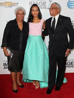 Kerry Washington with parents