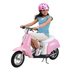 Razor Pocket Mod Miniature Euro 24V Electric Retro Scooter, Pink | 15130610 ** Want additional info? Click on the image.