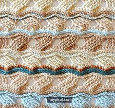 Crochet cross stitch - free photo tutorial and chart at MYpicot. Crochet Afghans, Picot Crochet, Crotchet Stitches, Crochet Cross, Crochet Diagram, Crochet Stitches Patterns, Crochet Round, Crochet Chart, Crochet Designs