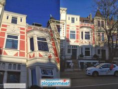 Vorderfront aus zwei Perspektiven - Arbeit für geduldige Maler - Arno Plaggenmeier GmbH