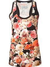 Givenchy - floral print tank top #genteroma