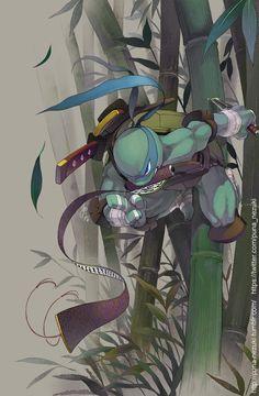 Leonardo - Teenage Mutant Ninja Turtles Teenage Ninja Turtles, Ninja Turtles Art, Arte Dc Comics, Bd Comics, Thundercats, Comic Books Art, Comic Art, Tortugas Ninja Leonardo, Leonardo Tmnt