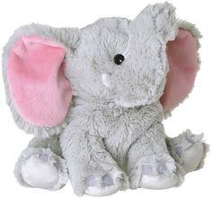 Super zachte magnetron knuffel in de vorm van een olifant. Na 90 seconden in de magnetron schenkt deze knuffel u voor een lange tijd warmte en de heerlijke geur van lavendel. Deze opwarmbare knuffel is gemaakt van de zachtste materialen en gevuld met een 100% natuurlijke mix van granen en gedroogde kruiden. Hij is 22-26 cm.