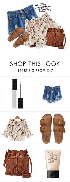 """""""Easy Boho"""" by fra3 ❤ liked on Polyvore featuring Gucci, WithChic, Billabong, FOSSIL, NARS Cosmetics and Bobbi Brown Cosmetics"""