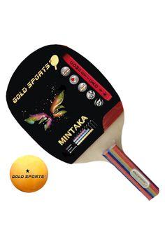 1cb4902ee Raquete Gold Sports Tennis De Mesa Mintaka Caneta Japonesa Multicolorido