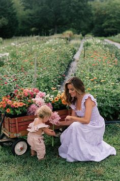 Garden Dress, Gal Meets Glam, Mom Daughter, Flower Farm, House Dress, Yellow Roses, Mommy And Me, Farm Life, Life Is Beautiful