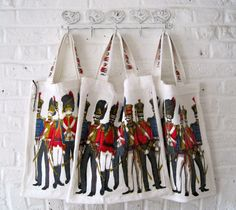 Handmade Soldiers Bag Recycled from Fifties Fabric by MadeinW6 on Etsy