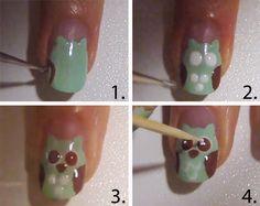 hoe kun je een uiltje van je nagel maken