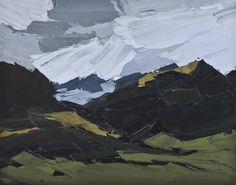"""Kyffin Williams (UK, Wales, 1918-2006) Snowdon from Llanllyfni (1975) oil on canvas 40.7 x 50.8 cm """