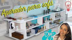"""DIY -  Aparador """"L"""" para sofá - Idéias Decoração de Sala - Decorar Es..."""