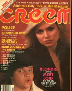 item details: Entire Issuekeywords: Blondie, Meet Loaf, Police, Boomtown Rats, Annie Golden & The ShirtsCreem (which is always capitalized in print as CREEM despite the magazine's masthead appearing i