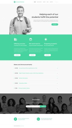 Choose this website theme to make a professional website for your commercial or . - Bunch of WordPress Themes - Long life College Website, University Website, Website Design Layout, Website Design Inspiration, Website Designs, Lps, Student Orientation, Websites For Students, School Information