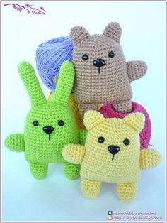 88 Crafts: little animals toys (+ description)