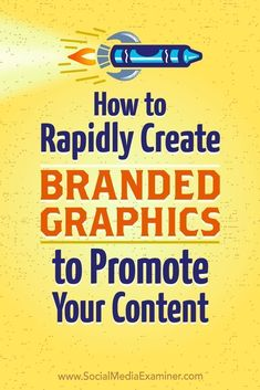 Do you need promotional graphics for your content?  Looking for a tool to easily add your logo to your graphics?  In this article, youll discover how to quickly create consistently branded graphics for multiple social media channels at one time.