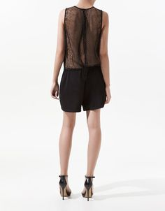 PLAYSUIT WITH LACE BACK - back view