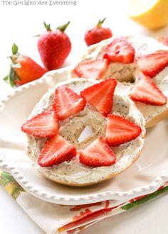 Strawberry Lemon Poppy Seed Bagel