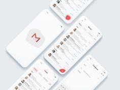 Gmail Redesign designed by Vijay Bhuva. Connect with them on Dribbble; Ui Design Mobile, App Ui Design, User Interface Design, Web Design, Web Dashboard, Dashboard Design, Linkedin App, Android App Design, App Design Inspiration