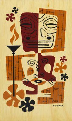 Retro Picasso tiki