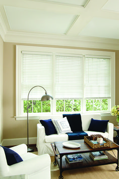 Levolor Custom Faux Wood Blinds In White Faux Wood Blinds White Faux Wood Blinds Faux Wood