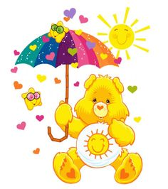 care bears clipart images   Misc clip art :: Care-Bear-Funshine-Umbrella.jpg picture by ...
