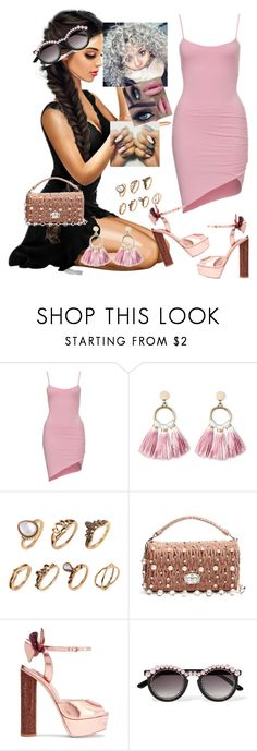 """Lights Down Low #MAX, gnash"" by diane-ds ❤ liked on Polyvore featuring SUGARFIX by BaubleBar, Miu Miu, Sophia Webster and Frēda Banana"