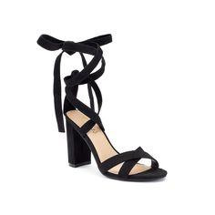 Candie's® Umbra Women's Chunky Heel Sandals, Teens, Size: 6.5, Black