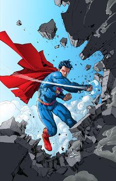 Superman new 52 Dc Comics Characters, Dc Comics Art, Marvel Dc Comics, Anime Comics, Superman Poster, Superman News, Superman Artwork, Superman Stuff, Superman Family