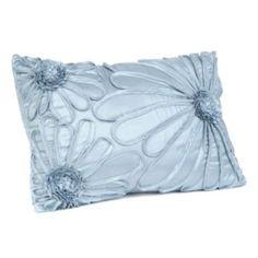 Kirkland's Upscale Blue Flower Pillow