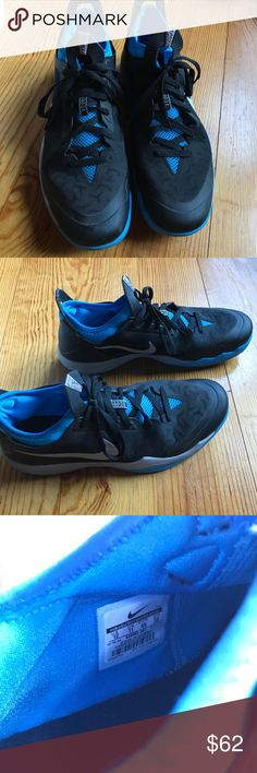 Nike Zoom Crusader Outdoor Men's Nike Zoom Crusader Outdoor in black, blue, and grey; size US Men's 12; worn a few times, in great condition!! Nike Shoes Sneakers