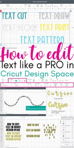Hi Daydreamer! Get ready because at the end of this article you will master how to edit text in Cricut Design Space like PRO! I want to teach you how to fish and empower you with the knowledge to come Cricut Air 2, Cricut Help, Cricut Vinyl, Cricut Stencils, Circuit Projects, Vinyl Projects, Vinyl Crafts, Cricut Craft Room, Cricut Fonts