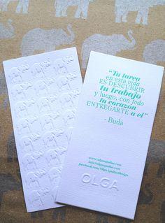 elephant embossed bookmark with Buda quote