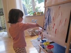 Why your child should work on a vertical surface amp 15 activities to try Kindergarten Writing, Toddler Fun, Sensory Activities, Easel, Cool Kids, Benefit, Surface, Fine Motor, Children