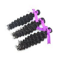 3pcs/lot,5A Queen Hair, Malaysia Virgin Deep Hair, Remy Hair ,Human Hair ,Natural Color  ,Tangle Free Shipping