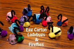 Life with Moore Babies: Egg Carton Ladybugs and Fireflies