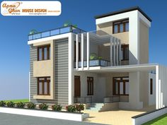 Gallary House Map Elevation Exterior House Design House