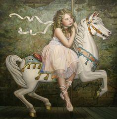 girl on carousel horse - Google Search
