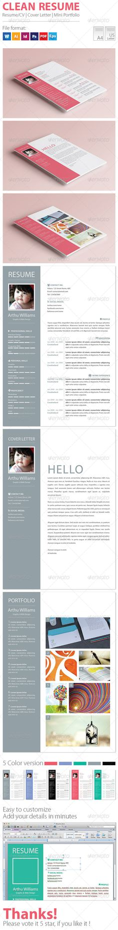 Minimal Resume Portfolio  Cover Letter Template  Cover Letter