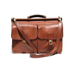 Brunt Caramel Brown COACH Leather Briefcase Bag by TanakaVintage, $265.00