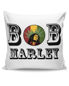 **Bob Marley** Crazy Cushion. More fantastic pillows, pictures, music and videos of *Bob Marley* on: https://de.pinterest.com/ReggaeHeart/ ©Tripund Media Works https://www.posterguy.in/products/bob-bob-marley-cannabis-leaf-ganja-music-rock-cushion-cover-6744028715-cs-12-nf?variant=19540921925
