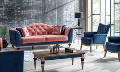 Canapea Extensibila 3 locuri Ligno Blue K2 #homedecor #interiordesign #inspiration #decoration #livingroom Love Seat, Couch, Furniture, Home Decor, Settee, Decoration Home, Sofa, Room Decor, Home Furnishings