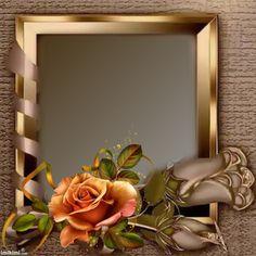Brown floral frame
